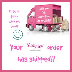 I post this picture directly on my customer's pages on Facebook when their order has shipped. What does this do?