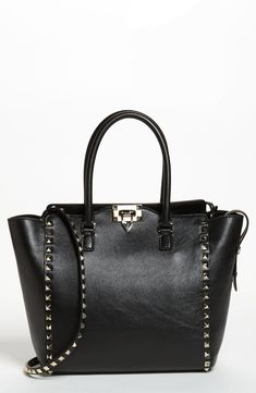 95650628561abc Valentino 'Rockstud' Double Handle Leather Tote | Nordstrom Longchamp Le  Pliage, Valentino Black