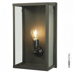 Box Wall Light 7645, by England's Davey Lighting #brasswalllight