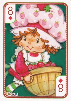 SSC Playing Cards - Best Deck - 20 Strawberry Shortcake Characters, Vintage Strawberry Shortcake, My Melody Wallpaper, Cool Deck, Rainbow Brite, Holly Hobbie, 80s Kids, Vintage Cartoon, Decoupage