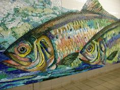 Mosaics: Mosaic art in the Delancey Street subway station, New York City (photo by Sheila Scarborough)