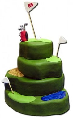 lots of ideas for golf themed cakes/cupcakes