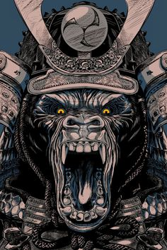 Animal-asesino-samurai by monzon.deviantart.com on @deviantART