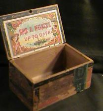 wooden cigar box,  Bair & Welker's Up to Date Esplendor, Hanover,PA