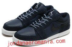 Acheter Chaussures Air Jordan Retro V.1 Midnight Navy Blanc  JordanAeroMania.com