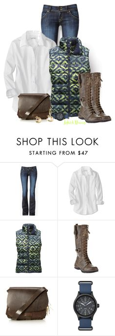 """Time to Hike"" by jayhawkmommy on Polyvore featuring Hudson Jeans, The North Face, EXTREME by Eddie Marc, Made and Timex"