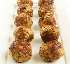 "vegan ""meatballs"" (tofu, walnuts, mushrooms, onions, flour (just 1 Tbsp...use gluten free), and spices)"