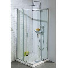 Buy Cali Corner Entry Shower Enclosure with Sliding Door - 900mm x 900mm - 6mm Online
