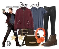 """""""Star-Lord"""" by leslieakay ❤ liked on Polyvore featuring Citizens of Humanity, H&M, Belstaff, Mulberry, Dorothy Perkins, Jennifer Meyer Jewelry, disney, disneybound and disneycharacter"""