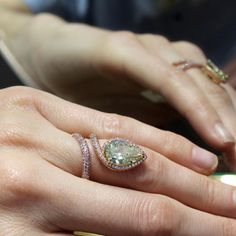 Chatila Fancy Intense Yellow Green diamond ring