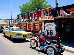 Seligman, Route 66  Take a day trip from #Sedona and explore the #Arizona portion of Route 66.  Come for a visit! www.sedonavacations.com See you soon!