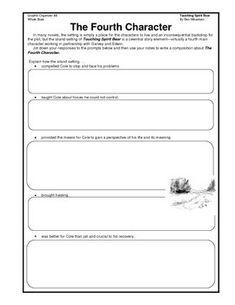 touching spirit bear test document for teachers touching spirit bear graphic organizer for writing