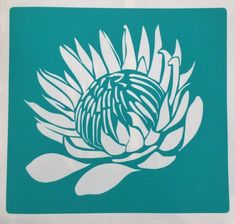 King ProteaB is a horizontally flipped version of King Protea A.The stencil is cut from 230 micron stencil vinyl, with a self adhesive backing. Protea Art, Protea Flower, Stencil Vinyl, Stencil Painting, Fabric Painting, Stenciling, Stencil Templates, Stencil Patterns, Stencil Designs