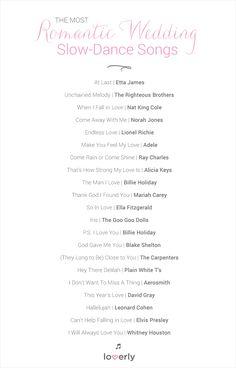 Wedding Tip: The Most Romantic Wedding Slow-Dance Songs
