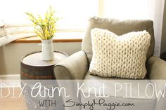 Giant Arm Knit Pillow | simplymaggie.com