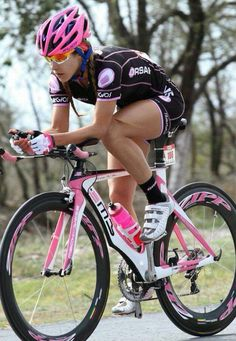 Love to have a pink tri bike. Yes, I would.
