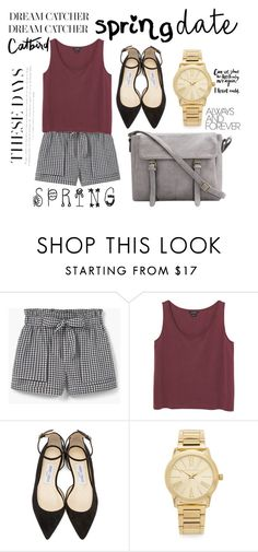 """"""".SPRING."""" by kdfashiondesigner ❤ liked on Polyvore featuring MANGO, Monki, Jimmy Choo and Michael Kors"""