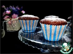 Низкокалорийные шоколадные кексы за 1 минуту - кулинарный рецепт