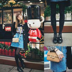 Get this look: http://lb.nu/look/8035122  More looks by Lolita Sharun: http://lb.nu/lolitasharun  Items in this look:  Zara Denim Skirt, Kira Plastinina Coat, Forever 21 Bag   #casual #chic #street #fashion #fashionblogger #urban #shanghai #lolitasharun #look