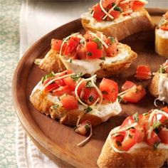 Want to serve your party guests some delicious appetizers without spending hours in preparation? These four recipes require little prep time and don't cost much, either. Best of all, they're delicious! Bruschetta 6 tomatoes, diced 2 tablespoons olive oil 8 Kalamata olives, finely diced 8 large leaves of fresh basil, chopped 2 teaspoons balsamic vinegar 1 small garlic clove, minced dash of salt black pepper Combine ingredients and let stand at room temperature for one hour. Adjust seasoning. ...