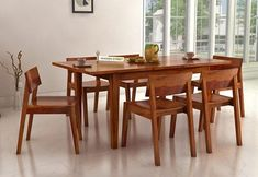 Buy Dining Table, 6 Seater Dining Table, Dining Set, Dining Room, Wooden Street, Set Honey, Table Settings, Tables, Birds