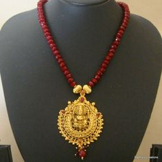Laxmi necklace - 211(temple jewellery) Gold Jewellery Design, Bead Jewellery, Temple Jewellery, Pendant Jewelry, Gold Jewelry, Beaded Jewelry, Jewelery, Trendy Jewelry, Necklace Designs