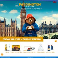 "GANA UNO DE LOS DIEZ PACKS DE MERCHANDISING DE  ""PADDINGTON"" QUE REGALAMOS"