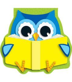 Reading Owl Notepad | Classroom décor from Carson-Dellosa