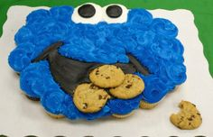 Sesame Strret Cookie Monster Cupcake