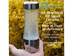 Amazon.com : H2 Sport Chrome Hydrogen Generator Water Bottle with PEM Dual Chamber Technology. New for 2019 : Sports & Outdoors Hydrogen Generator, Travel Books, Outdoor Recreation, Chrome, Water Bottle, Outdoors, Technology, Amazon, Sports