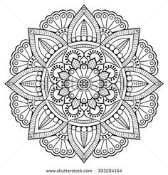 Find Flower Mandalas Vintage Decorative Elements Oriental stock images in HD and millions of other royalty-free stock photos, illustrations and vectors in the Shutterstock collection. Mandala Art, Mandala Drawing, Flower Mandala, Mandala Pattern, Mandala Tattoo, Pattern Flower, Free Adult Coloring Pages, Mandala Coloring Pages, Coloring Book Pages