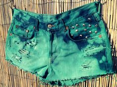 Vintage Lucky Denim High Waisted Shorts / Tie by UnraveledClothing, $68.00