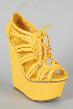 Strappy Platforms = classic flirty shoe!  CHANDLER is here to help you land your summer crush ;)