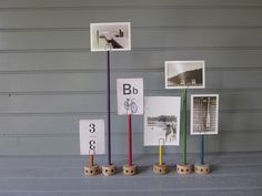 Tinker Toy Photo Holders by Amy Kristine Vintage