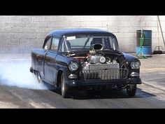 ▶ Becky Ivcic's Retirement Ride Along in Jay Rust's Supercharged '55 Chevy Nostalgia Drag Racing - YouTube