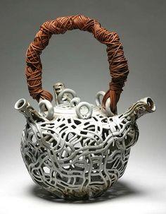 ceramic teapot sculpture