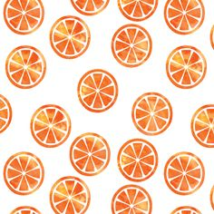 Watercolor oranges fabric by littlearrowdesign on Spoonflower - custom fabric