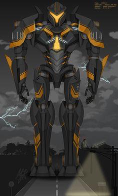 :CONTEST ENTRY: AMBER VENGEANCE by MessyArtwok Fantasy Concept Art, Robot Concept Art, Fantasy Armor, Pacific Rim Kaiju, Pacific Rim Jaeger, Anime Fnaf, Mecha Anime, Big Robots, Stark Industries
