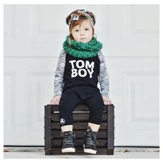 """Little Wonderland Clothing on Instagram: """"Hello....Cuteness! Oh how I LOVE this little pix of Elliott <<Dollface>> ❤️ Sitting so pretty in our TOMBOY romper + super cute green knitted scarf @finomenallyclothed + perfect little head band @mimi_makes  All layered up!! Ready for Monday!! Let's just swoon away!!❤️ #babe #fashion #fashionista #kidsfashion #girl #streetwear #fleece #hipkidfashion #trendy #style #igkiddies #stylish #stylishkids #rad #boss #love #ootd #iconic #logo #love #tomboy"""