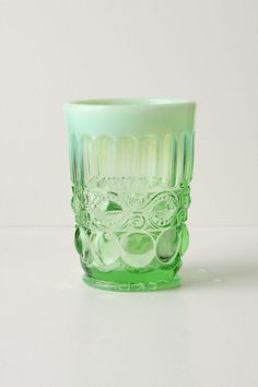 Opalescent Tumbler in Green.  Already have 2 - need 2 more.