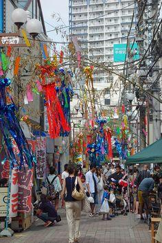 A street, Hiratsuka, Kanagawa, Japan - festival