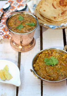 Baingan Bharta - Punjabi style roasted eggplant curry #Indiancurry #indiancooking #curryrecipe #veganrecipe #glutenfreerecipe