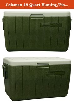 Coleman 48-Quart Hunting/Fishing Cooler. Keep your food and drinks cold, and keep the fun going, for up to 3 days when you bring a Coleman 48 Quart Performance Cooler. Large enough to hold 63 cans and tall enough to hold 2-liter bottles upright, you'll have plenty of space for refreshments for a whole group of people. Whether you're headed on an overnight camping trip, to a tailgate party, or out to a BBQ, the 2-way handles make getting to your destination easy. When the fun is done, the...