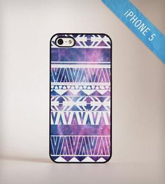 Galaxy Aztec iPhone 5 case with celestial print and tribal motif. By Blissful Case.