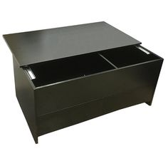 Best Coffee Table With Sliding Top Two Drawers Black Storage Furniture