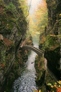 Bridge at Gorges de l'Areuse / Switzerland