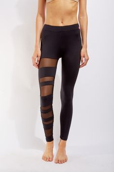Show both your sexy and feminine sides when you wear our newest mesh cut away leggings that are perfect for a workout, a tennis match or leisure. This item is available for pre-order now.
