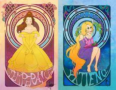 7 virtues disney princesses temperance patience