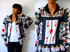 Vtg Ace of Hearts Cards Print Moschino Couture Zip by LuluTresors, $129.99
