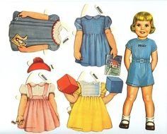 Paper dolls with clothes.Paper dolls are figures cut out of paper, with separate clothes.  All Paper dolls are different. Free paperdolls ...